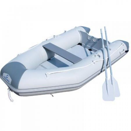 Bestway HYDRO-FORCE Caspian with 2 paddles on the left board of the boat