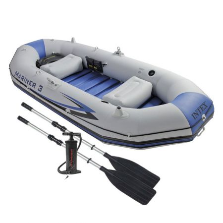 Intex Mariner 2 fishing boat with two paddles and a pump