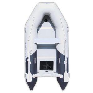 Бяла надуваема РИБ лодка Bestway Mirovia с две бели гребла по бордовете