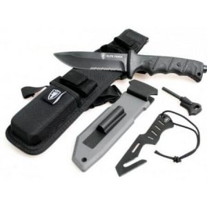 Тактически нож, калъф за бедро, запалка тип огнива
