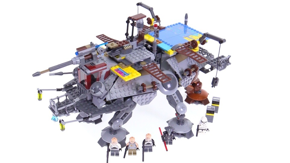 Captain Rex's AT-TE LEGO set - completed kit with all mini-figures included in it
