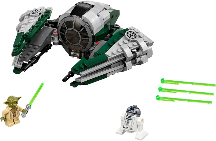 Yoda's Starfighter with a Yoda and R2-D2 mini-figures