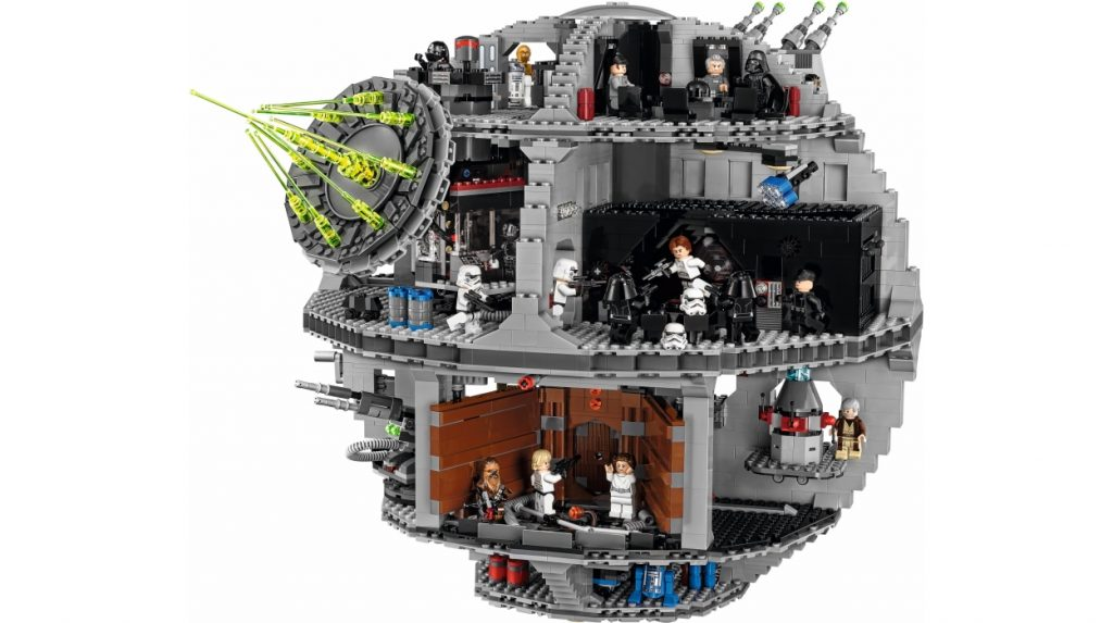 An image of the inside of the Star Wars Death Star LEGO set