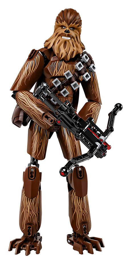 Chewbacca LEGO action figure with a crossbow