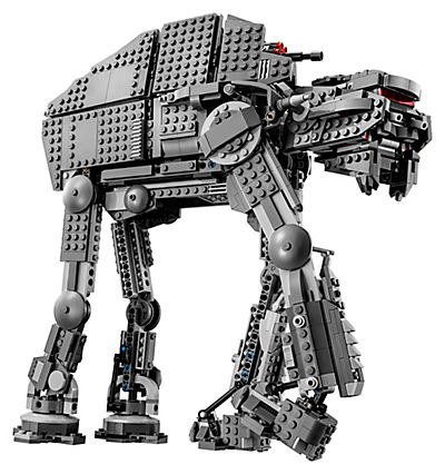 Side shot of the First Order Assault Walker LEGO Set