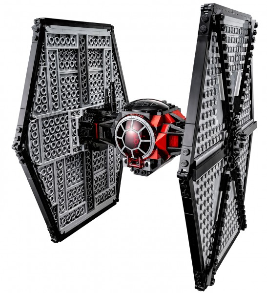 A complete TIE fighter LEGO set