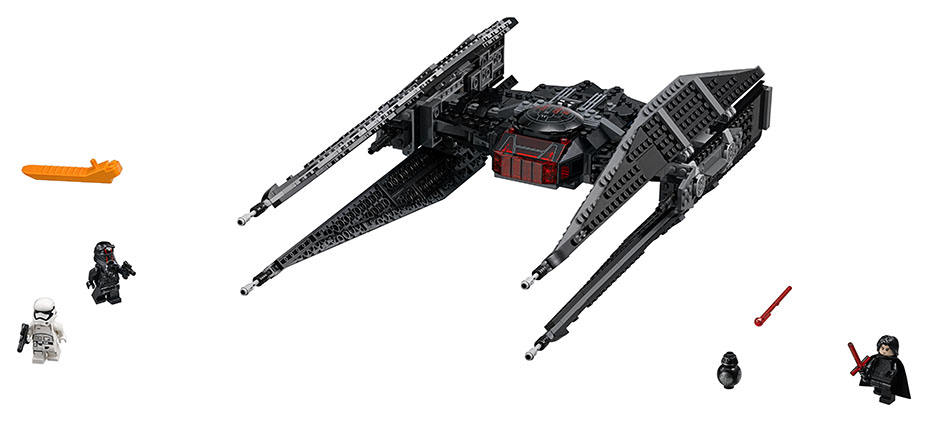 An image of Kylo Ren's TIE Fighter LEGO
