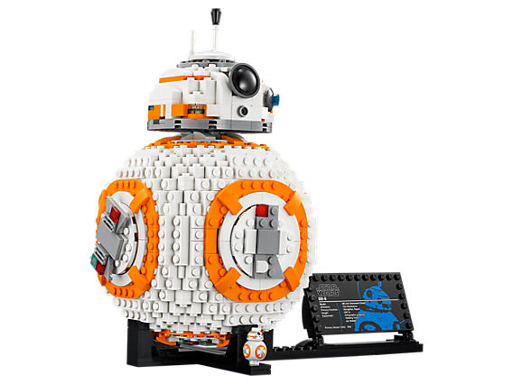 Collectable LEGO BB-8 droid on a stand