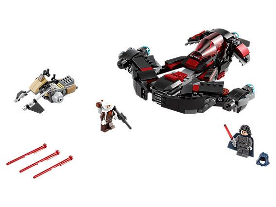 Снимка на Еклипс Файтър Лего сет с включени Лего човечета, муниции и спийдър