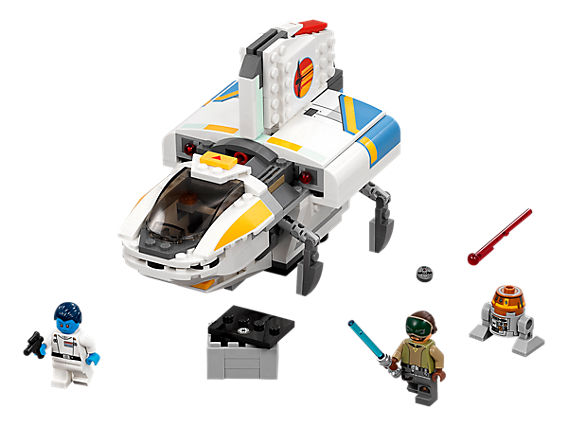 LEGO Phantom кораб с 3 мини фигурки - Канан, Траун и Чопър