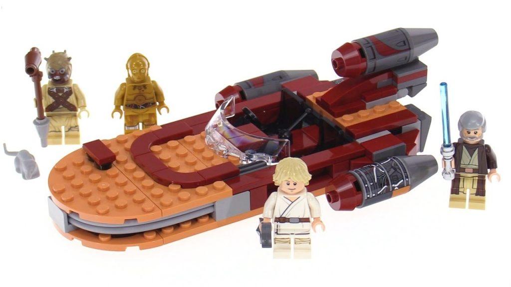 An image of Luke's Speeder LEGO set with 4 mini-figures