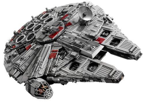 An image of a collectable Millennium Falcon LEGO set