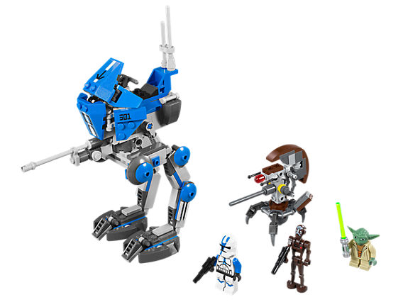 Изображение на AT-RT ходеща машина, снайпер дроидека и мини фигурки