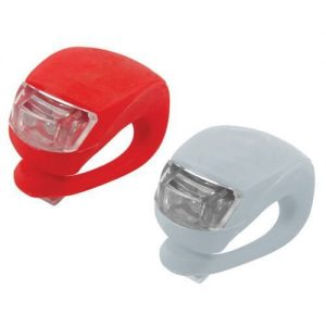 A set of Savfy front and rear bike flashlights