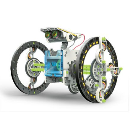 Снимка на сглобен конструктор - соларен робот