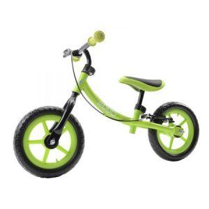 Зелено колело без педали на бял фон