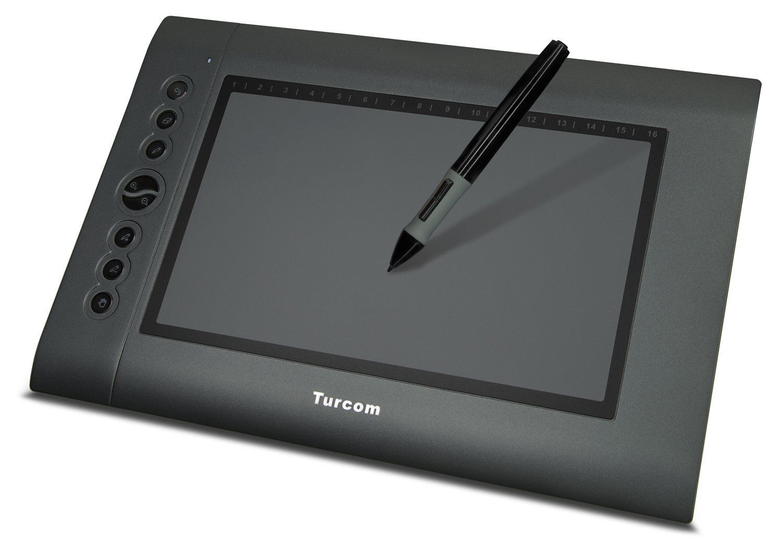 Изображение на графичен таблет Turcom TS 6610 на бял фон
