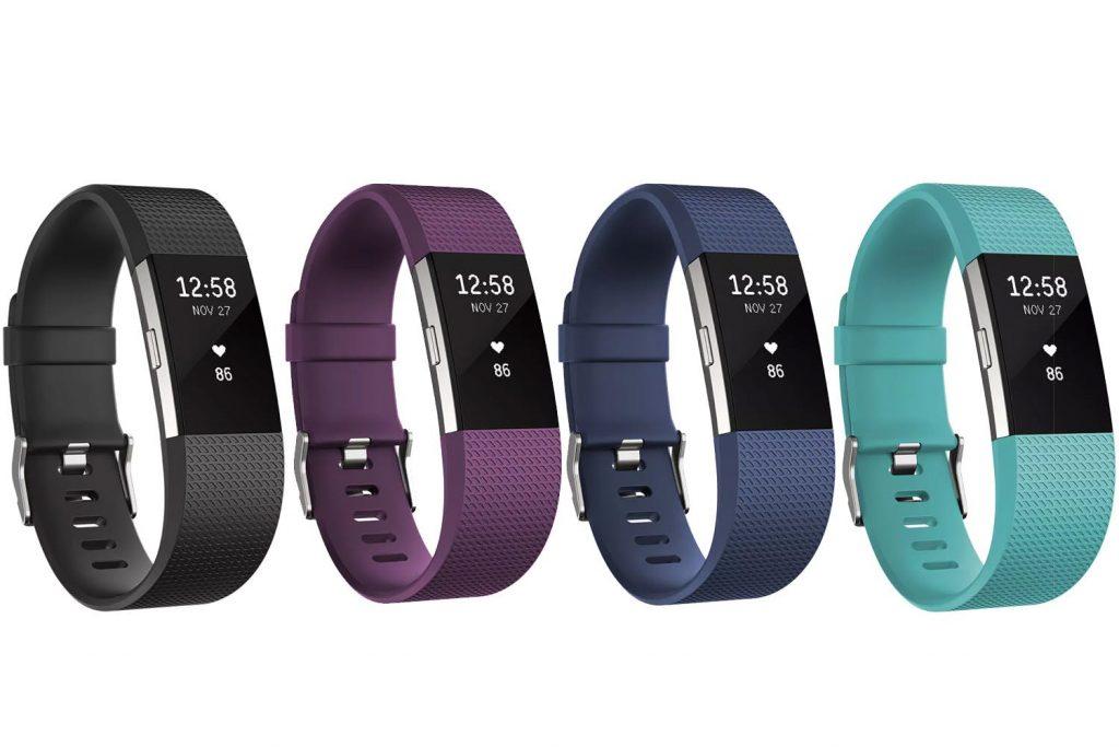 Fitbit гривни Charge 2 - четири на брой в черно, тъмнолилаво, тъмносиньо и морскосиньо