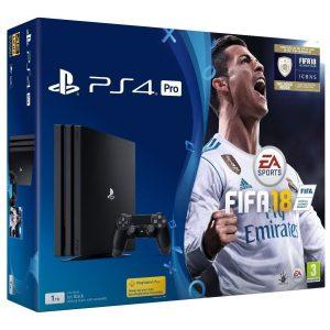 Кутия на Play Station 4, комплект с FIFA 18