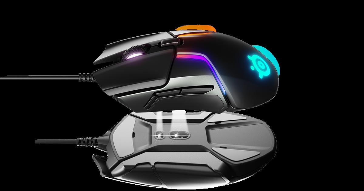 Мишка за игри - SteelSeries Rival 600 с отражение на стъклена повърхност