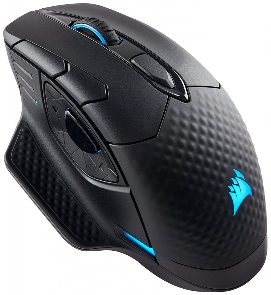 Геймърска мишка Corsair Dark Core RGB SE в черно и тюркоазени елементи