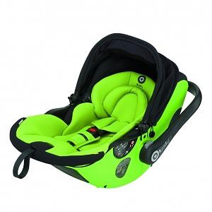 Лимонено-зелена бебешка седалка за кола Kiddy Evo Lunafix