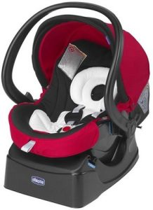 Изображение на червена бебешка седалка з акола Chicco AutoFix Fast с Iso Fix база