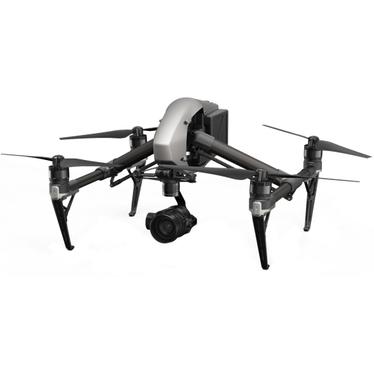 Изображение на професионален дрон за фотографи DJI Inspire 2 на бял фон