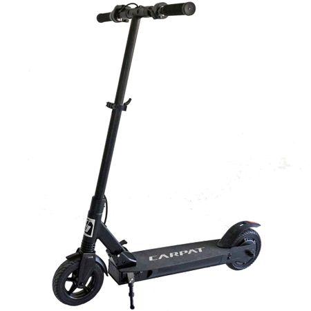 Черен електрически скутер с регулираща височина на кормилото и пусната степенка - Carpat YTE-A03