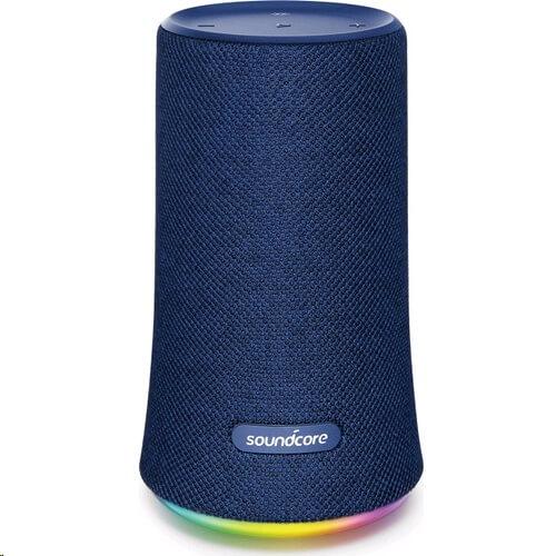 Безжична колонка Anker Soundcore Flare 360 с RGB основа и синя мембрана