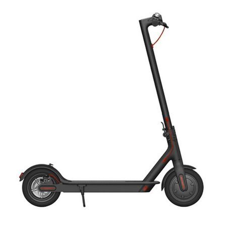 "Черна електрическа тротинетка ""E-Scooter"" в профил"