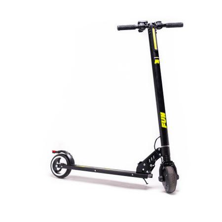 Черна електрическа тротинетка Freewheel Rider Fun с пусната степенка
