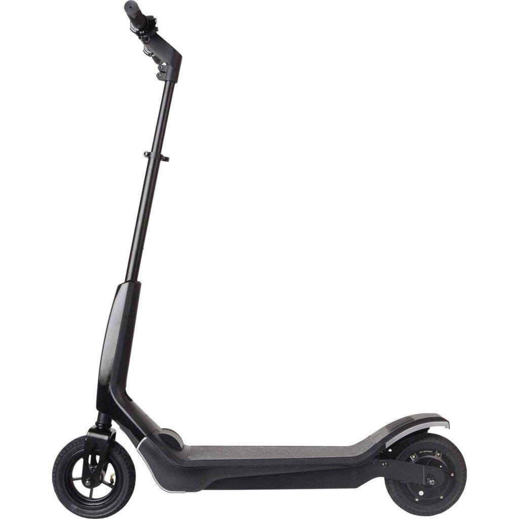 Елегантен черен електрически скутер Mpman TR300 в профил