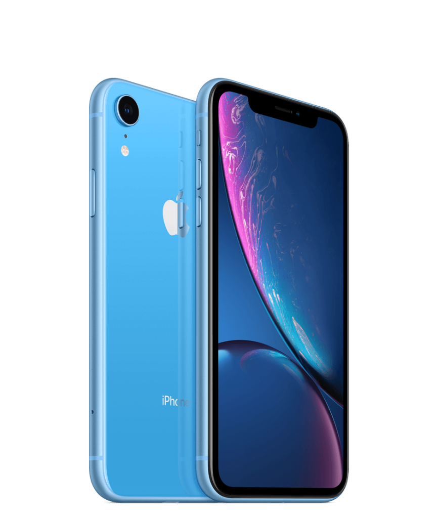 Телефон за игри Apple iPhone XR - дисплей и светлосин гръб