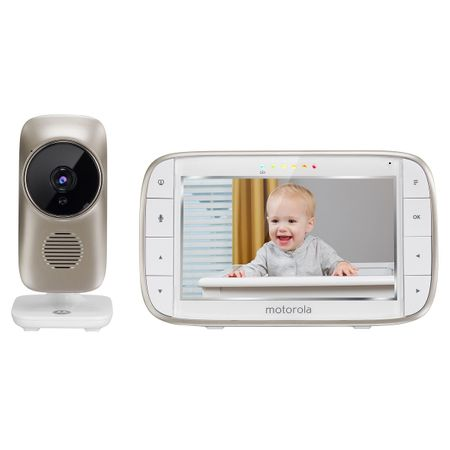 Видео бебефон на Моторола - златиста камера и 5 инчов дисплей
