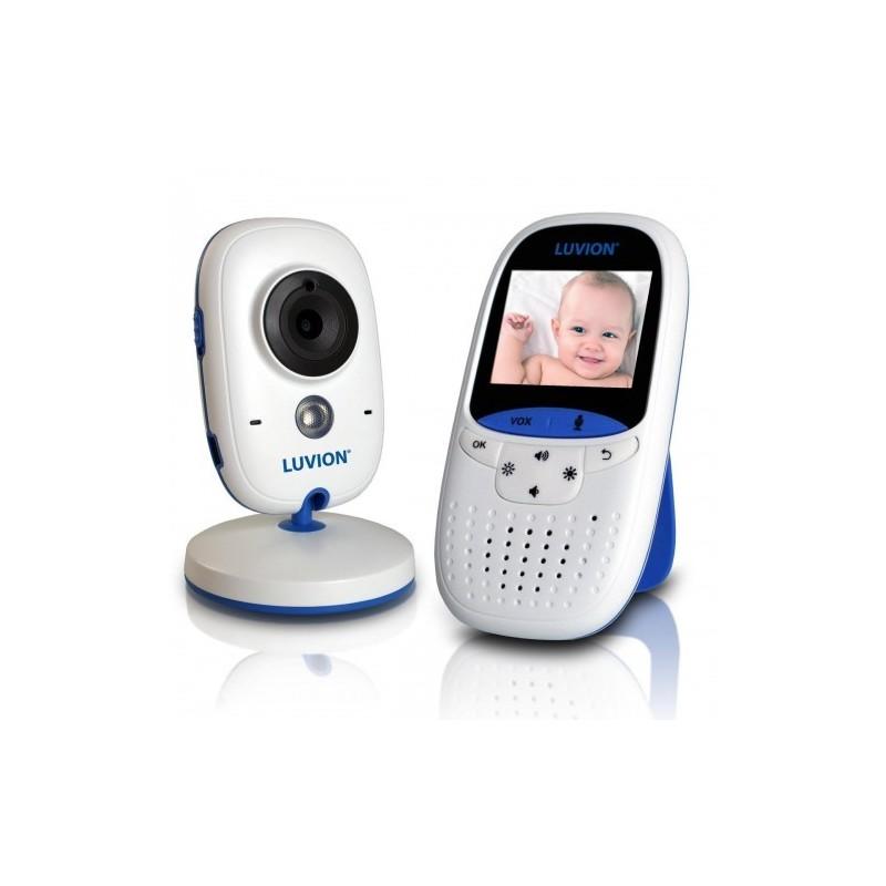 Бебефон с камера - Luvion. Снимка на родителското устройство и камерата на бял фон