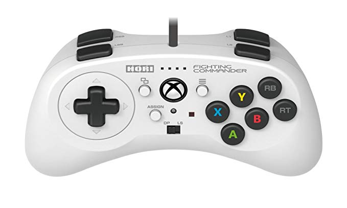 Бял Xbox One контролер Hori Fighting Commander Pro за бойни игри