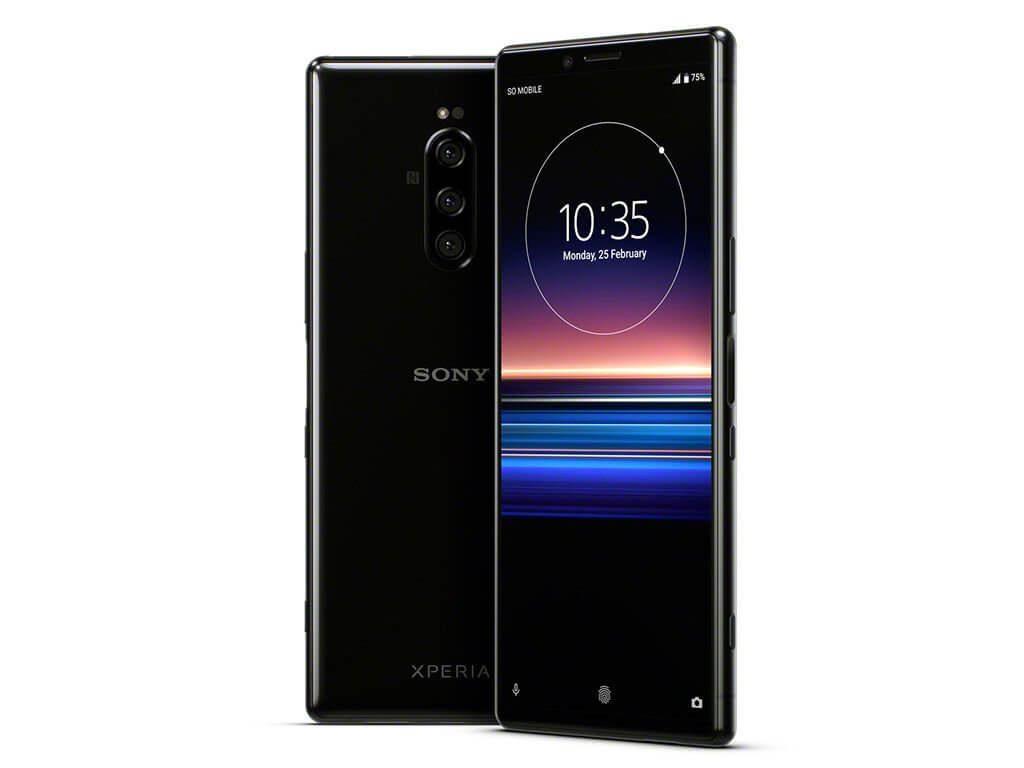 Телефон за игри Sony Xperia 1 - дисплей и черен гръб