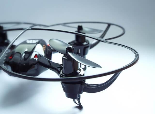 Близък план на витло на дрон за деца