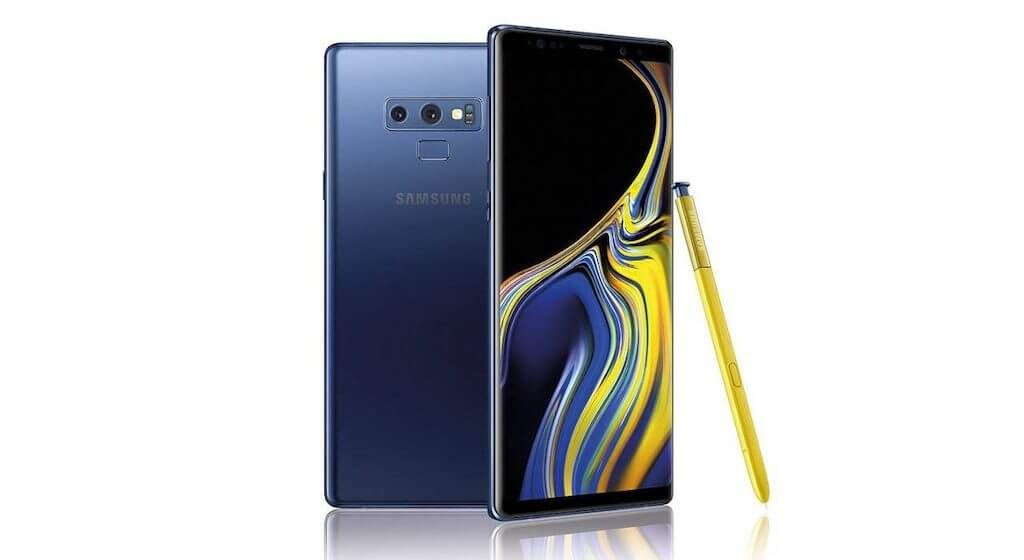 Телефон за игри Smasung Galaxy Note 9 - Гръб и дисплей + Жълт стилус